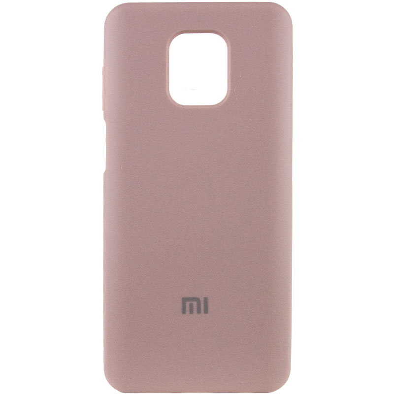 Чехол Silicone Cover Full Protective (AA) для Xiaomi Redmi Note 9 Pro (Розовый / Pink Sand)