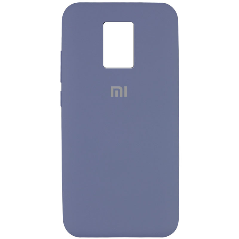 Чехол Silicone Cover Full Protective (AA) для Xiaomi Redmi Note 9 Pro (Серый / Lavender Gray)