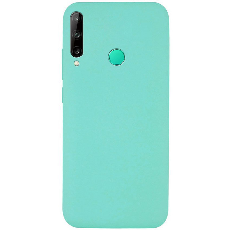 Чехол Silicone Cover Full without Logo (A) для Huawei P40 Lite E / Y7p (2020) (Бирюзовый / Ocean Blue)