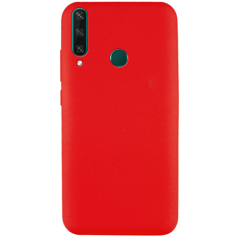Чехол Silicone Cover Full without Logo (A) для Huawei Y7p (2020) (Красный / Red)