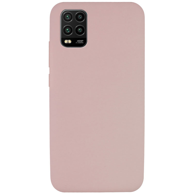 Чехол Silicone Cover Full without Logo (A) для Xiaomi Mi 10 Lite (Розовый / Pink Sand)