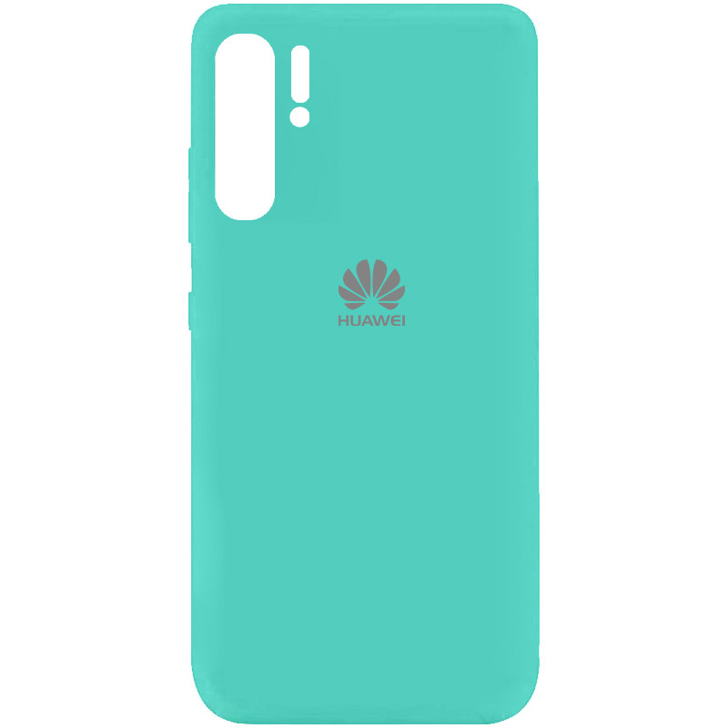 Чехол Silicone Cover My Color Full Protective (A) для Huawei P30 Pro (Бирюзовый / Ocean Blue)