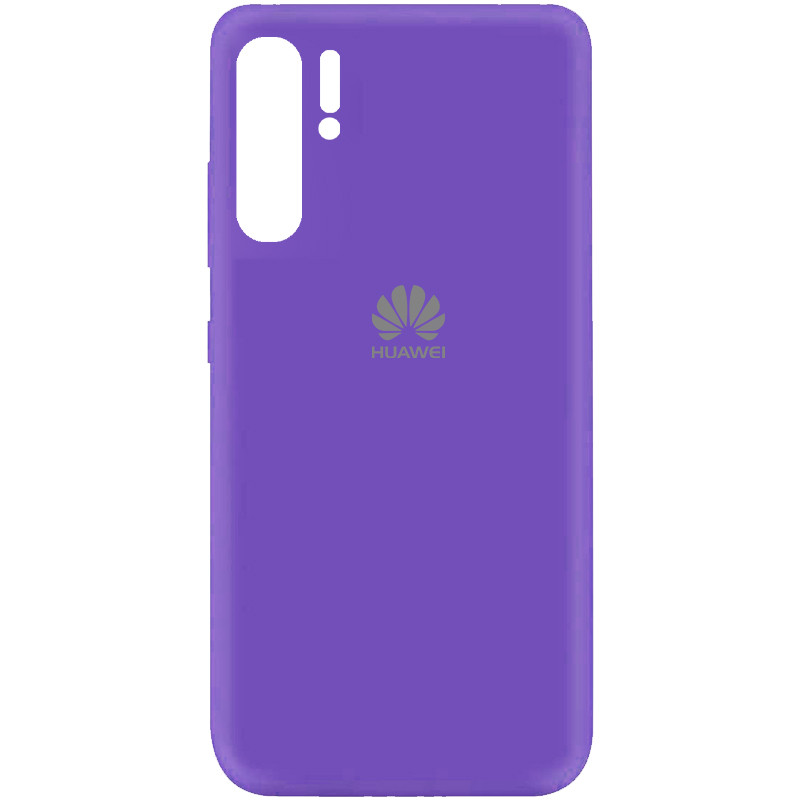 Чехол Silicone Cover My Color Full Protective (A) для Huawei P30 Pro (Фиолетовый / Violet)