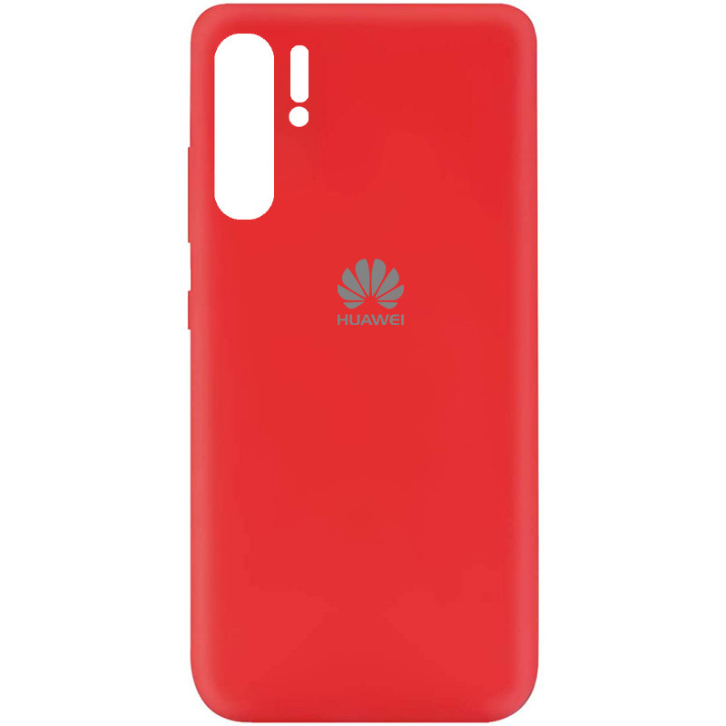 Чехол Silicone Cover My Color Full Protective (A) для Huawei P30 Pro (Красный / Red)