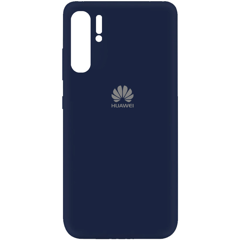Чехол Silicone Cover My Color Full Protective (A) для Huawei P30 Pro (Синий / Midnight blue)