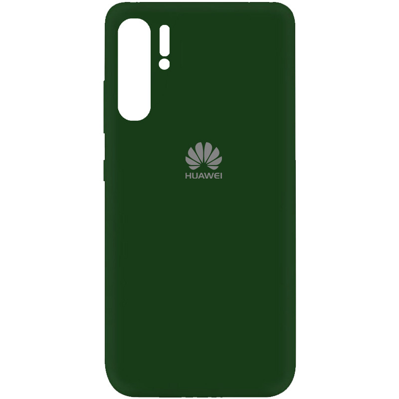 Чехол Silicone Cover My Color Full Protective (A) для Huawei P30 Pro (Зеленый / Dark green)