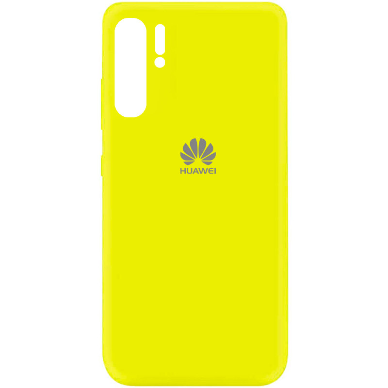 Чехол Silicone Cover My Color Full Protective (A) для Huawei P30 Pro (Желтый / Flash)