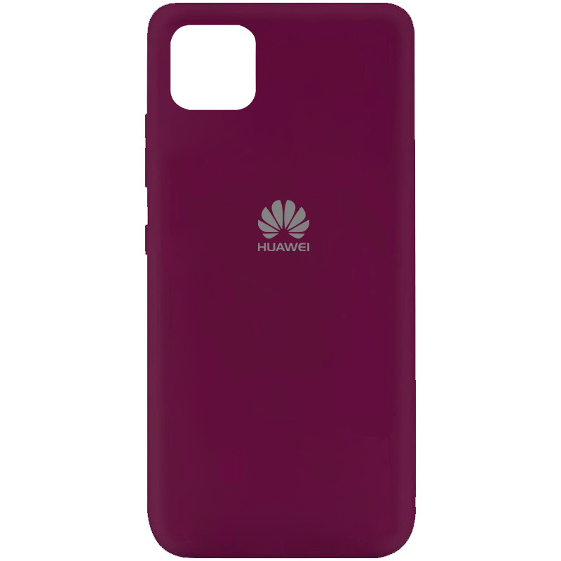 Чехол Silicone Cover My Color Full Protective (A) для Huawei Y5p (Бордовый / Marsala)