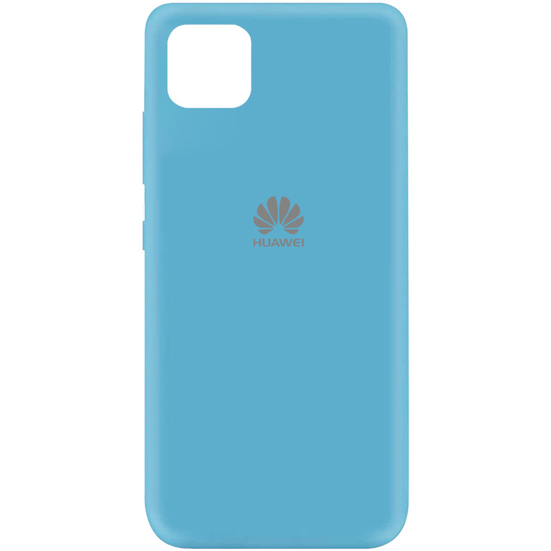 Чехол Silicone Cover My Color Full Protective (A) для Huawei Y5p (Голубой / Light Blue)