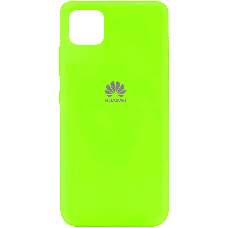 Чехол Silicone Cover My Color Full Protective (A) для Huawei Y5p (Салатовый / Neon green)