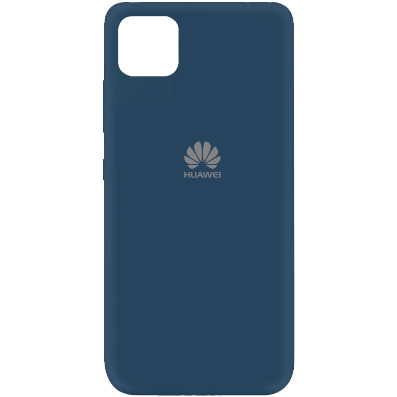 Чехол Silicone Cover My Color Full Protective (A) для Huawei Y5p (Синий / Navy blue)