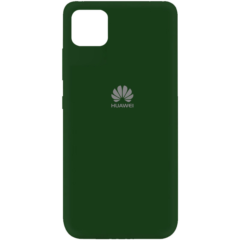 Чехол Silicone Cover My Color Full Protective (A) для Huawei Y5p (Зеленый / Dark green)