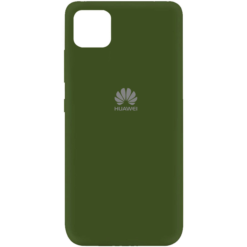 Чехол Silicone Cover My Color Full Protective (A) для Huawei Y5p (Зеленый / Forest green)