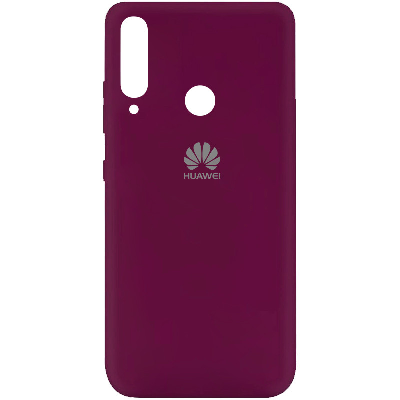 Чехол Silicone Cover My Color Full Protective (A) для Huawei Y7p (2020) (Бордовый / Marsala)