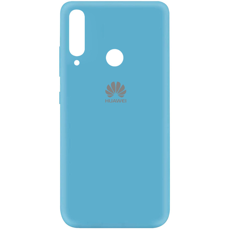 Чехол Silicone Cover My Color Full Protective (A) для Huawei Y7p (2020) (Голубой / Light Blue)