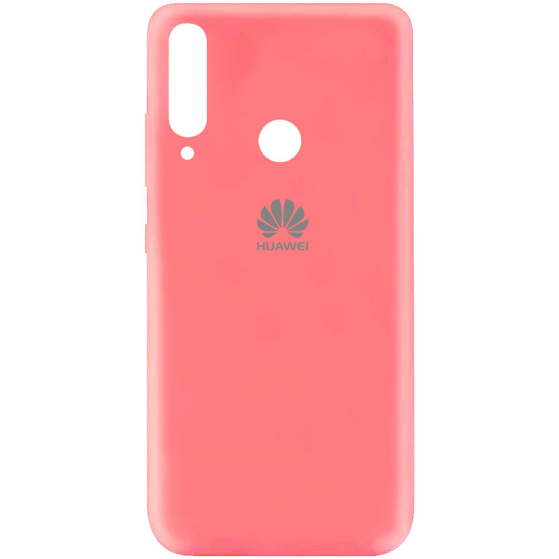 Чехол Silicone Cover My Color Full Protective (A) для Huawei Y7p (2020) (Розовый / Peach)