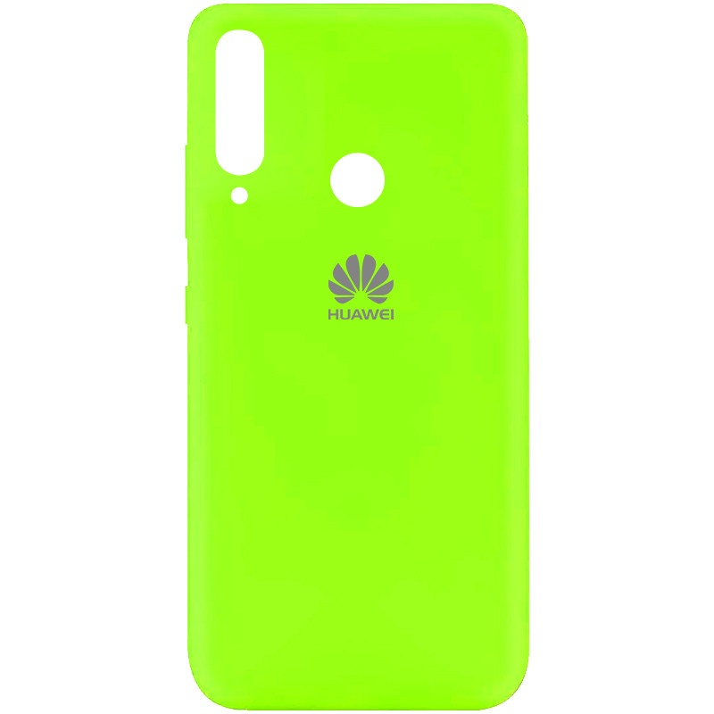 Чехол Silicone Cover My Color Full Protective (A) для Huawei Y7p (2020) (Салатовый / Neon green)