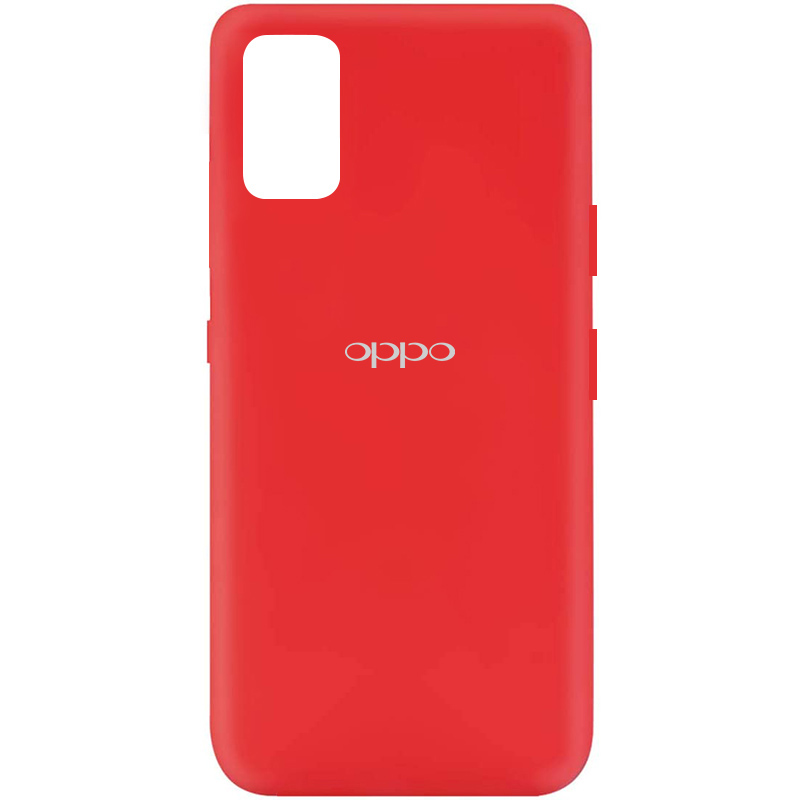 Чехол Silicone Cover My Color Full Protective (A) для Oppo A72 (Красный / Red)