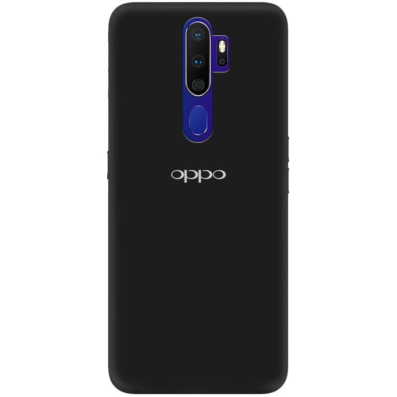 Чехол Silicone Cover My Color Full Protective (A) для Oppo A9 (2020) (Черный / Black)