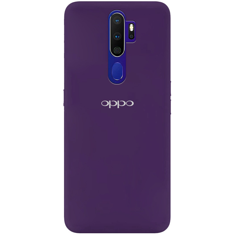 Чехол Silicone Cover My Color Full Protective (A) для Oppo A9 (2020) (Фиолетовый / Purple)