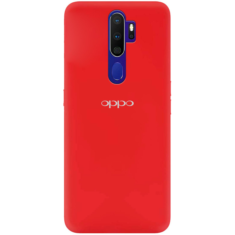 Чехол Silicone Cover My Color Full Protective (A) для Oppo A9 (2020) (Красный / Red)
