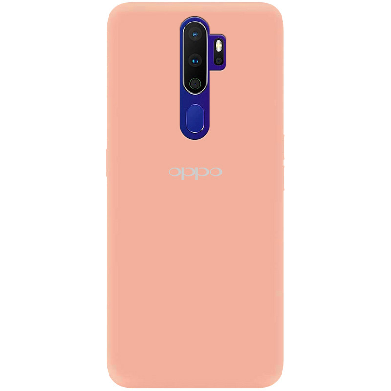 Чехол Silicone Cover My Color Full Protective (A) для Oppo A9 (2020) (Розовый / Flamingo)