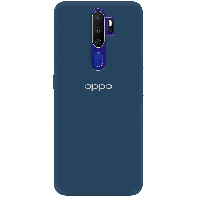 Чехол Silicone Cover My Color Full Protective (A) для Oppo A9 (2020) (Синий / Navy blue)