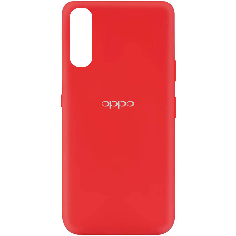 Чехол Silicone Cover My Color Full Protective (A) для Oppo Find X2 (Красный / Red)