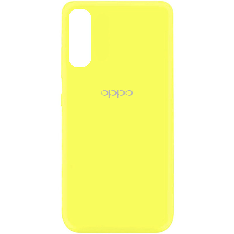 Чехол Silicone Cover My Color Full Protective (A) для Oppo Find X2 (Желтый / Flash)
