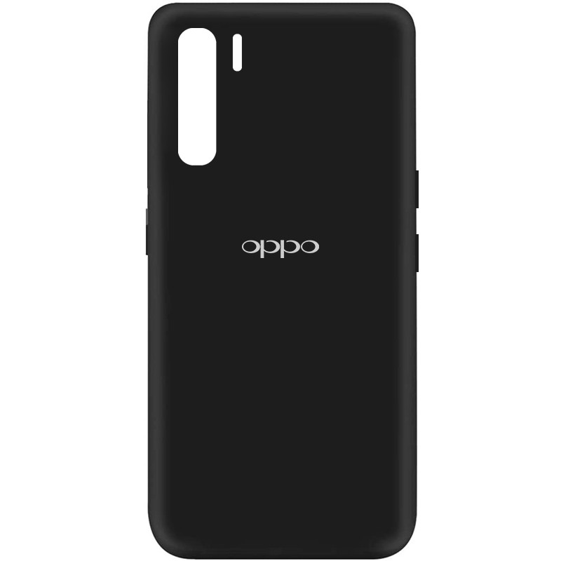 Чехол Silicone Cover My Color Full Protective (A) для Oppo Reno 3 (Черный / Black)