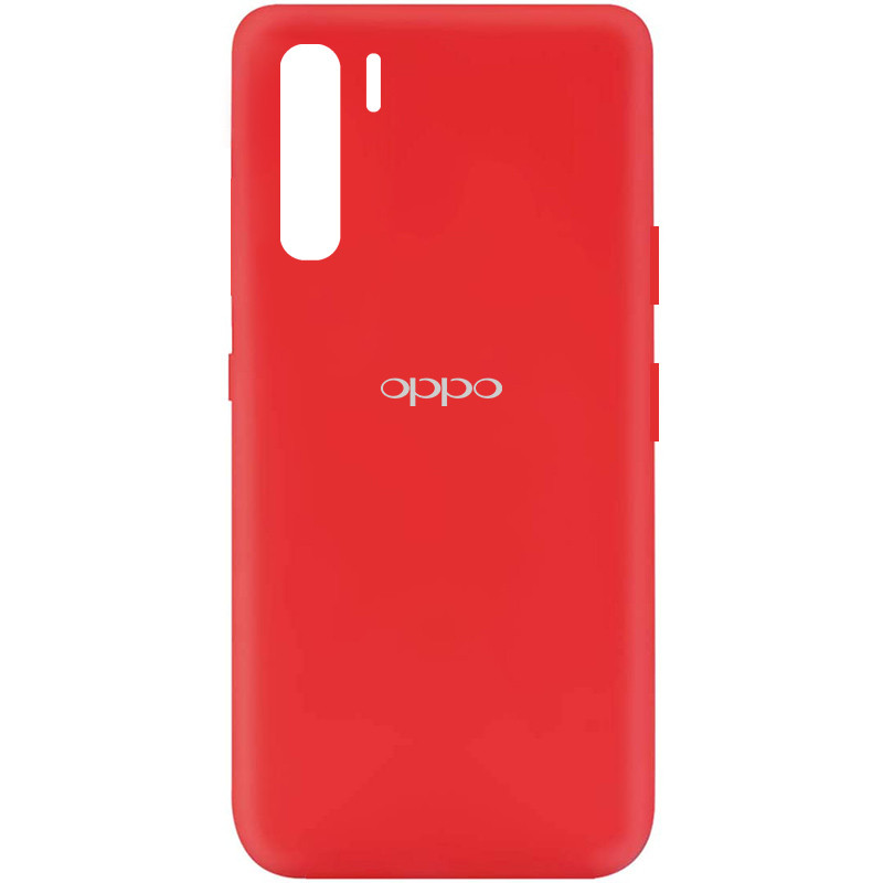 Чехол Silicone Cover My Color Full Protective (A) для Oppo Reno 3 (Красный / Red)
