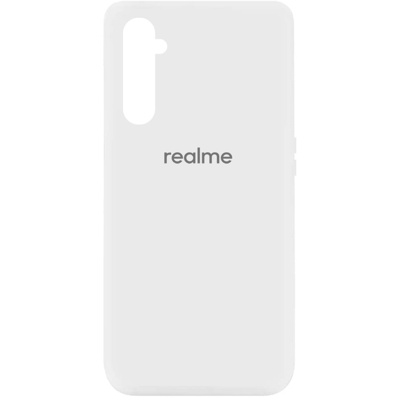 Чехол Silicone Cover My Color Full Protective (A) для Realme 6 (Белый / White)