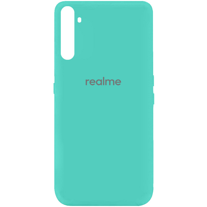 Чехол Silicone Cover My Color Full Protective (A) для Realme 6 (Бирюзовый / Ocean Blue)