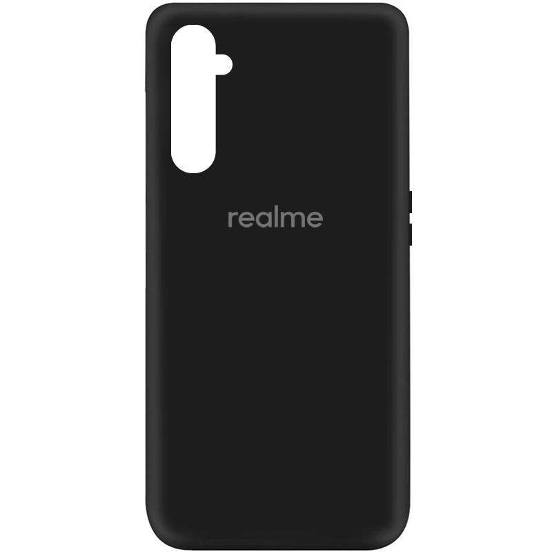 Чехол Silicone Cover My Color Full Protective (A) для Realme 6 (Черный / Black)