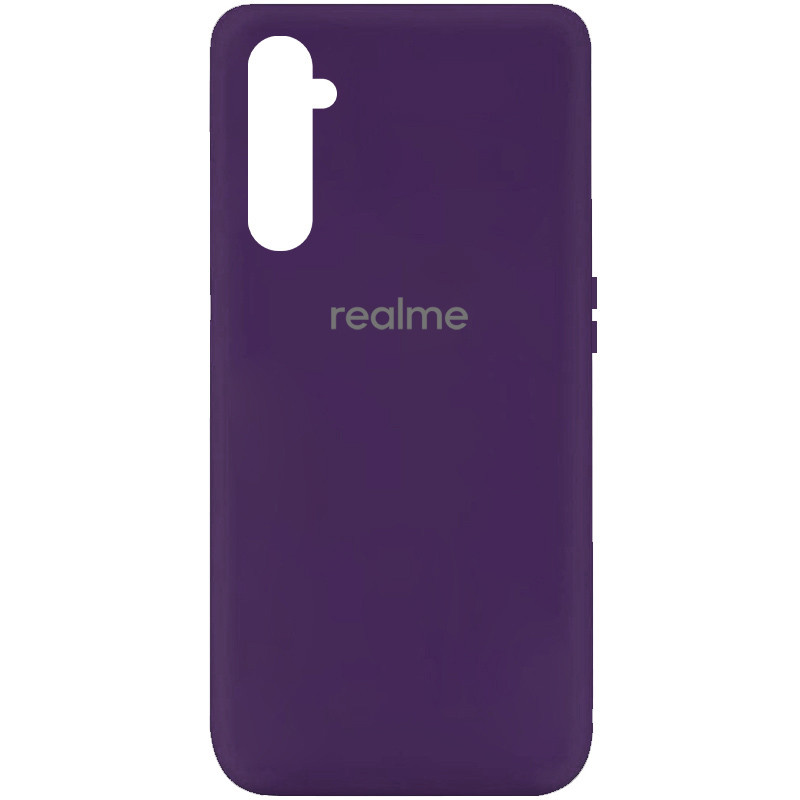 Чехол Silicone Cover My Color Full Protective (A) для Realme 6 (Фиолетовый / Purple)