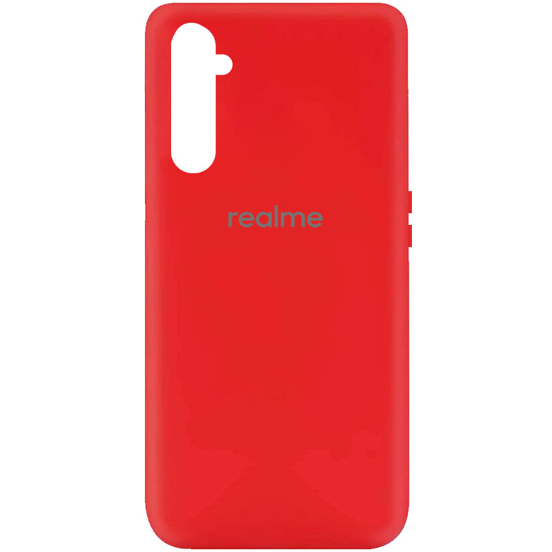 Чехол Silicone Cover My Color Full Protective (A) для Realme 6 (Красный / Red)