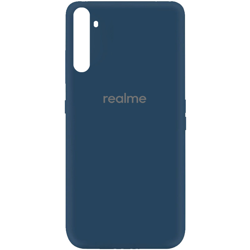 Чехол Silicone Cover My Color Full Protective (A) для Realme 6 (Синий / Navy blue)