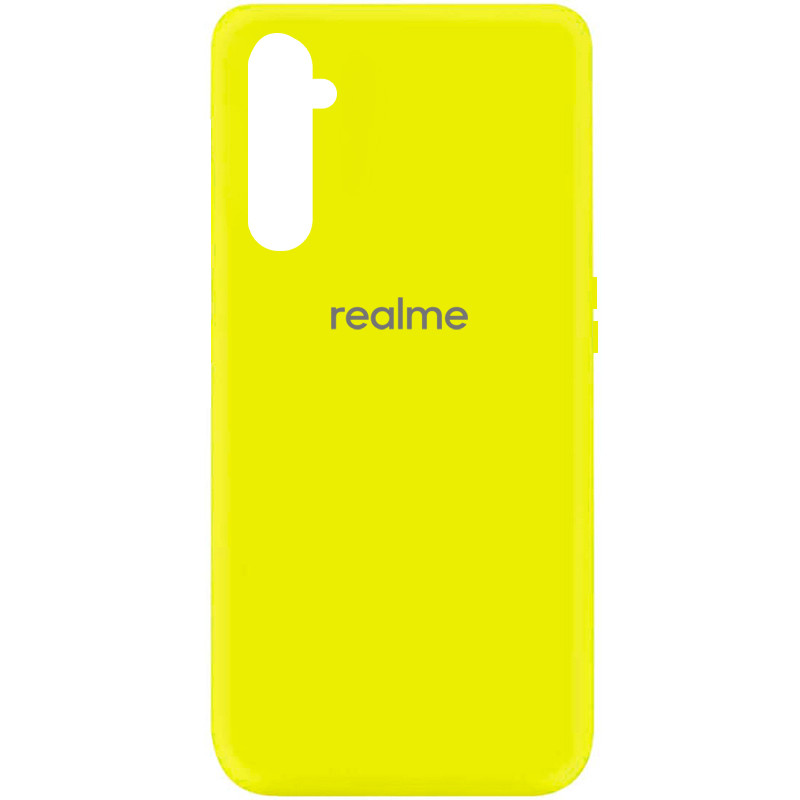 Чехол Silicone Cover My Color Full Protective (A) для Realme 6 (Желтый / Flash)