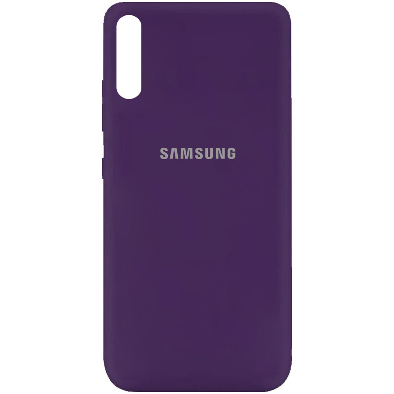 Чехол Silicone Cover My Color Full Protective (A) для Samsung Galaxy A70 (A705F) (Фиолетовый / Purple)