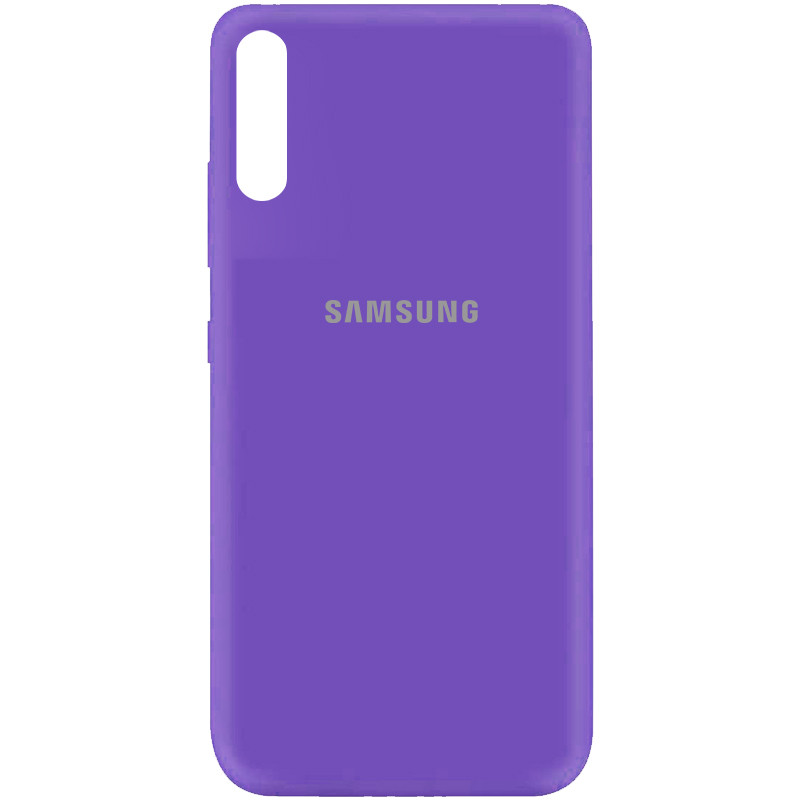 Чехол Silicone Cover My Color Full Protective (A) для Samsung Galaxy A70 (A705F) (Фиолетовый / Violet)