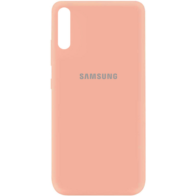 Чехол Silicone Cover My Color Full Protective (A) для Samsung Galaxy A70 (A705F) (Розовый / Flamingo)