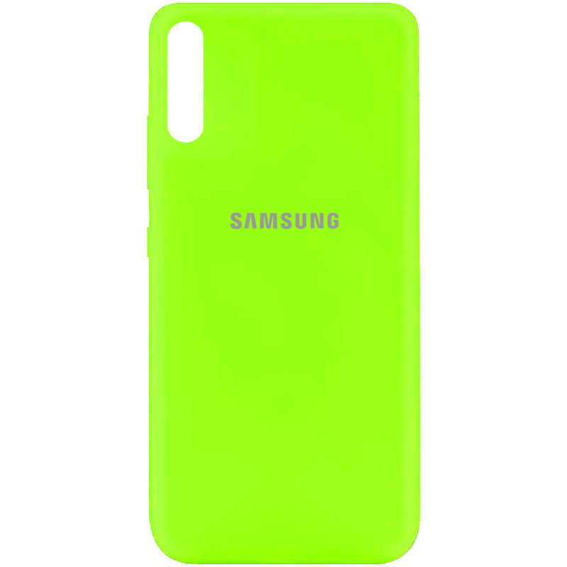 Чехол Silicone Cover My Color Full Protective (A) для Samsung Galaxy A70 (A705F) (Салатовый / Neon green)
