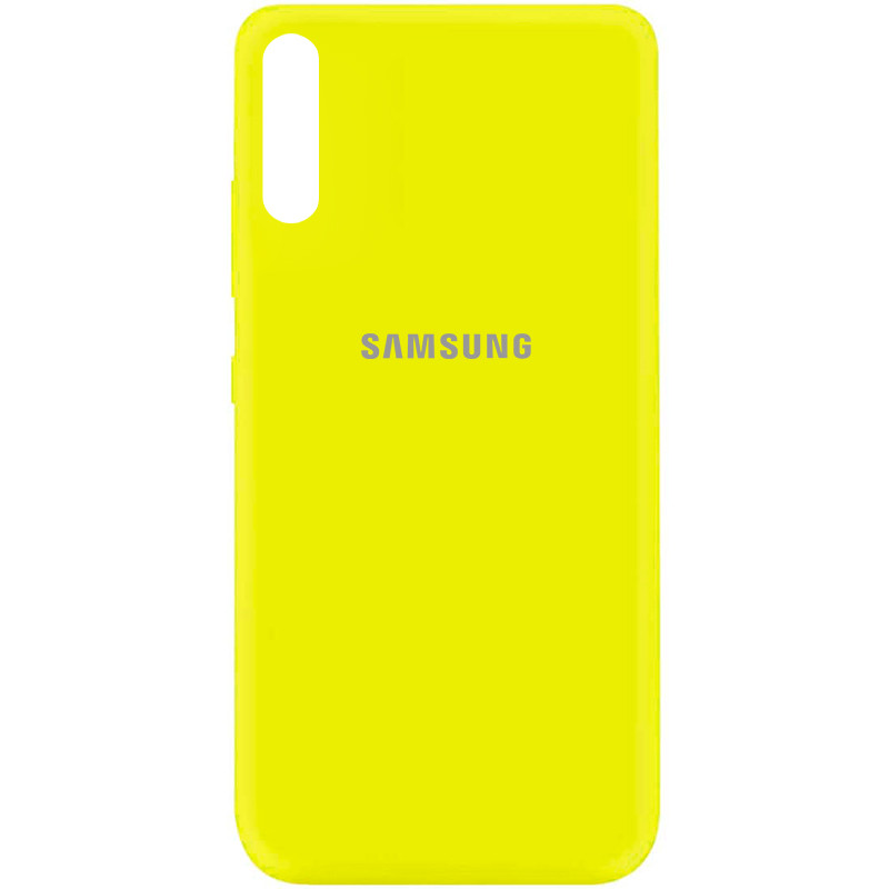 Чехол Silicone Cover My Color Full Protective (A) для Samsung Galaxy A70 (A705F) (Желтый / Flash)