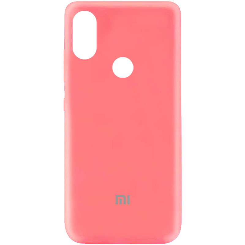 Чехол Silicone Cover My Color Full Protective (A) для Xiaomi Mi A3 Lite (Розовый / Peach)