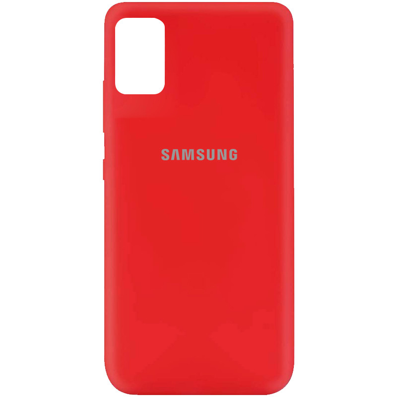Чехол Silicone Cover My Color Full Protective (A) для Samsung Galaxy A51 (Красный / Red)