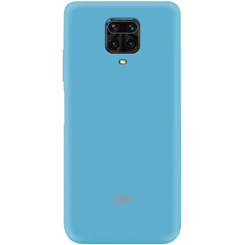 Чехол Silicone Cover My Color Full Protective (A) для Xiaomi Redmi Note 9 Pro (Голубой / Light Blue)