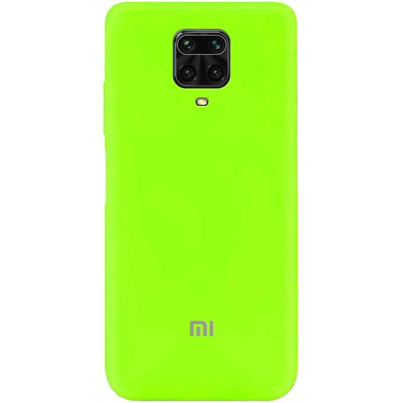 Чехол Silicone Cover My Color Full Protective (A) для Xiaomi Redmi Note 9s/Note 9 Pro/Note 9 Pro Max (Салатовый / Neon green)
