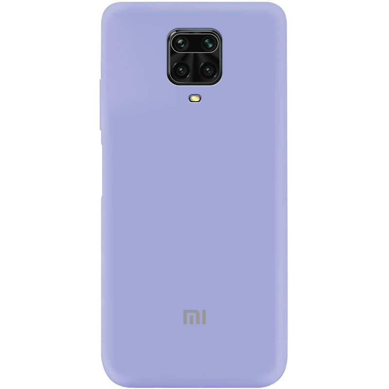 Чехол Silicone Cover My Color Full Protective (A) для Xiaomi Redmi Note 9 Pro (Сиреневый / Dasheen)