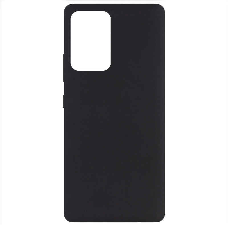 Фото Чехол Silicone Cover Full without Logo (A) для Samsung Galaxy A72 5G Черный / Black на onecase.com.ua