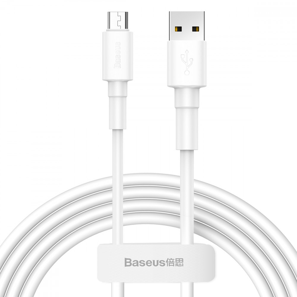 Дата кабель Baseus Mini MicroUSB Cable 2.4A (1m) (Белый)
